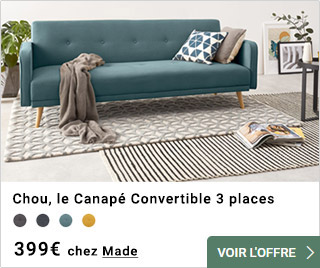 Canapé convertible 3 places chou