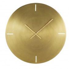Horloge en métal brossé doré D76