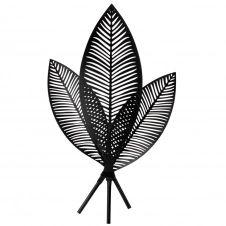 Déco murale feuilles de palmier en métal noir 44×75