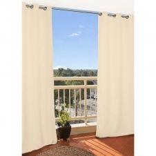 Rideau extérieur beige 135×250