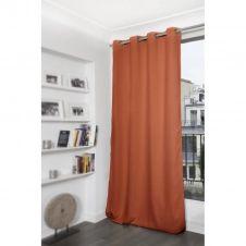 Rideau thermique occultant orange 140×260