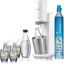 Machine à soda Sodastream Machine CRYSTAL blanche pack verre