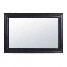 Miroir en paulownia noir à moulures 95×140