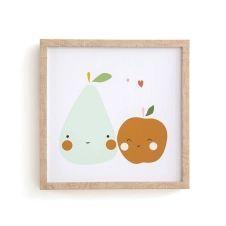 Cadre enfant motifs pomme/poire, Fruta
