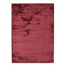 Tapis extra-doux effet velours rouge foncé 120×170
