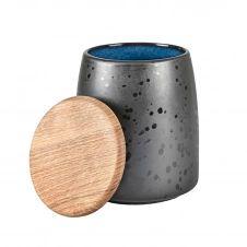 Pot avec couvercle Bitz 16,5 cm Noir-bleu foncé