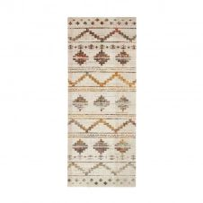 Tapis pour intérieur-extérieur motif aztèque beige 80×200
