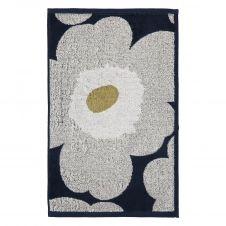 Serviette Unikko bleu marine-gris clair 30×50 cm