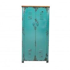 Armoire casier en métal turquoise