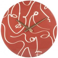Horloge terracotta et écrue D40
