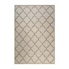 Tapis outdoor beige motif oriental gris pour entrée, extérieur 80×150