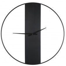 Horloge en métal noir D100