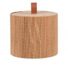 Boîte ronde en bambou