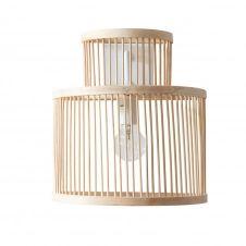 Applique en bambou beige