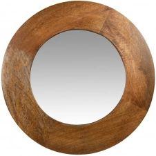 Miroir rond brun D69
