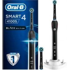 Brosse à dents électrique Oral-B Smart 4100S noire (+2 brossettes Cross)