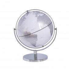 Globe blanc et argenté D27