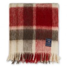 Plaid Checked Mohair Mix 130×170 cm Rouge-multi