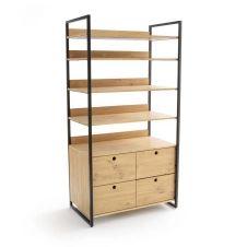 Module dressing large 4 tiroirs 4 étagères HIBA