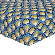 Drap housse en lyocell bleu 90×190