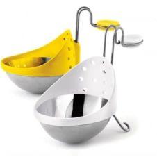 Pocheuse à oeufs Cuisipro acier inoxydable X 2 – jaune/blanc