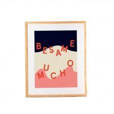 Affiche en papier recyclé Besame mucho 42×30