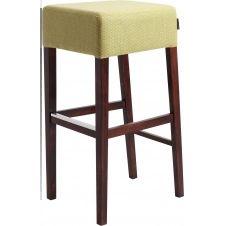 Chaise de bar bois et tissu jaune h87