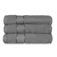 Lot de 3 maxi draps de bain 100×150 cm 380 gr/m2 gris