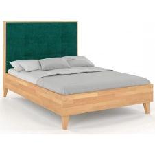 Lit avec tête de lit sommier hËtre massif vert 160x200cm