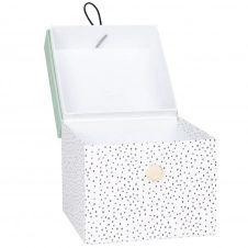 Boîtes blanches et bleu vert à motifs H16 (x2)