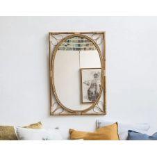 Miroir en rotin 61×90