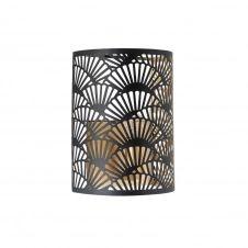 Applique en métal filaire noir et doré