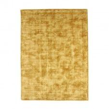 Tapis en viscose effet soyeux jaune 120×170