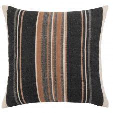 Housse de coussin en coton motifs à rayures 50×50