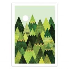 FOREST MOUNTAINS –   Affiche d'art 50 x 70 cm