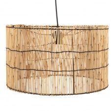 Suspension tambour en bambou