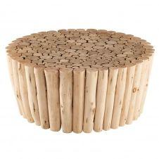 Bout de canapé en bois d'eucalyptus ROBINSON