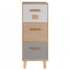 Petit meuble de rangement 3 tiroirs à motifs