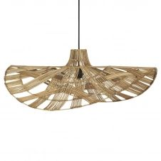 Lampe à suspension Wella rotin 81 cm Nature