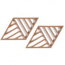 Dessous de plat Zone Rhombus Lines Lot de 2 Cayenne