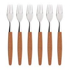 Skaugum fourchettes lot de 6 Ecco Teak