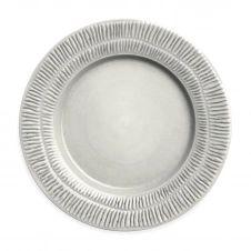 Assiette Stripes 28 cm Gris