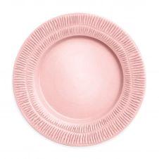 Assiette Stripes 28 cm Rose clair