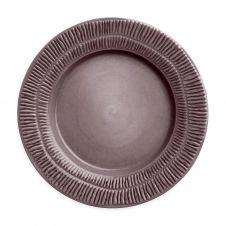 Assiette Stripes 28 cm Plum