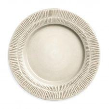Assiette Stripes 28 cm Sable