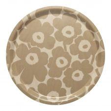 Plateau Mini Unikko Brun clair-beige