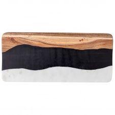 Planche à découper Marbre-résine-acacia Bloomingville 18×39,5 cm