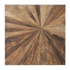 Déco murale en bois recyclé 100×100