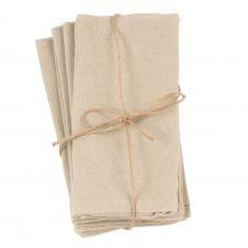 Serviettes en coton beige (x4)
