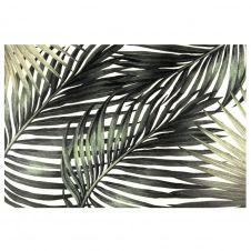 Set de table en vinyle imprimé feuilles tropicales